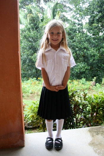 School uniform. Welcome to the world of conformation Juliet. you new name shall be #84652...