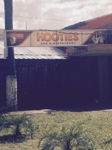 One of the wonderful institutions that Honduras has adopted from the American culture.  Maybe I'm mistaken, maybe 'Hooties' is completely different than 'Hooters.'  I think I saw some nuns going in there...