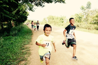 Running hard, with a smile