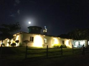 Full moon over the hospital